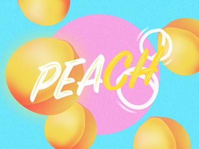 Peach ui summer peach illustration