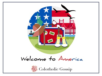 Welcome to America logodesign icondesign leisure travel colour usa trip traveling america