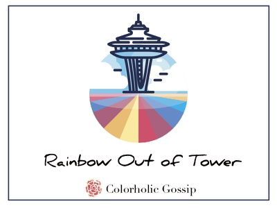 Rainbow Out of Tower colour color animals deer sky inspiration airport funny warm spring rainbow