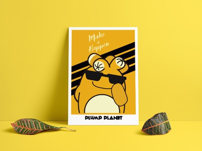 PlumpPlanet Story Poster -  Make it Happen! branding cartoon character kids stickerdesign productdesign coffeemug logo brandidentity graphicdesign succulent characterdesign