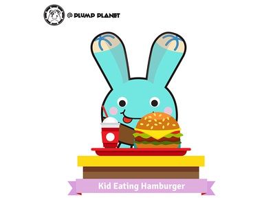 Happy Hamburger Day @PlumpPlanet Story characterdesign succulent graphicdesign brandidentity logo coffeemug productdesign stickerdesign kids character cartoon branding