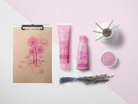 VITASTEM Cosmetics Brand Logo and Package Design