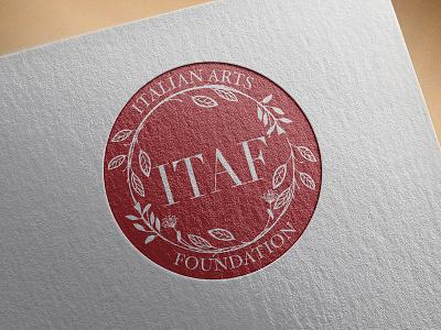 Logo Design for Italian Arts Foundation brandidentity branding reportdesign professional layoutdesign graphicdesign graphicdesigner premium package