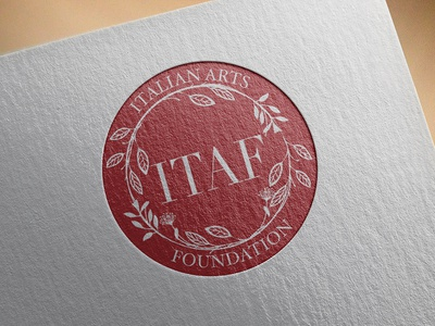 Logo Design for Italian Arts Foundation brandidentity branding reportdesign professional layoutdesign graphicdesign graphicdesigner premium package