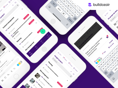 Bulldozair - New iOS App branding ui ux