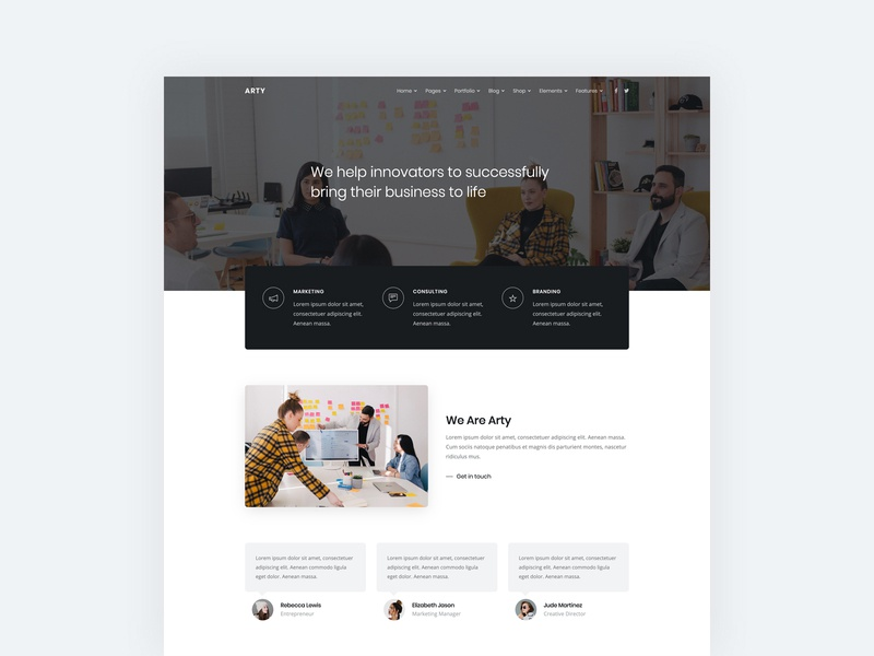 Business web template corporate agency bootstrap html5 web design contemporary clean modern web template website business