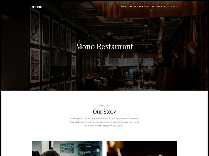 Restaurant web template bootstrap html5 contemporary simple clean modern web template restaurant