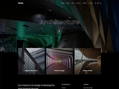 Architect studio black contemporary modern clean bootstrap html5 web design web template architect architecture