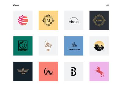 Logo Designer Website showcase portfolio creative bootstrap minimal contemporary simple modern clean website onepage html5 web template web design logo designer