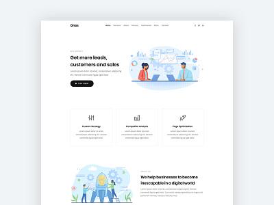 SEO Agency onepage landing clean modern bootstrap html5 web design web template seo agency