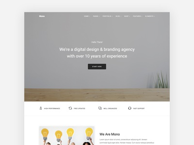 Agency Clean HTML5 Template html5 bootstrap web design simple minimal clean agency