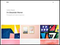 Photographer web template