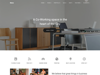 Co-Working Spaces web template