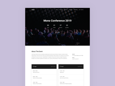 Event, Conference Template one page onepage conference event web template design bootstrap minimal ui simple clean template html5 modern web design