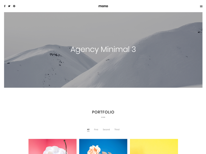 Modern, minimal template for Agency ui  ux agency design bootstrap minimal simple ui template clean html5 modern web design