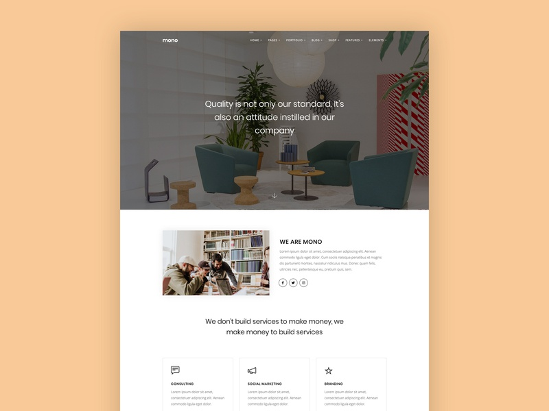 Business / Agency business agency web template ui template html5 modern clean minimal simple web design