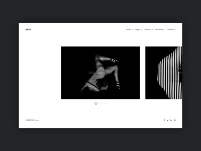 Portfolio Carousel creative web template minimal ui html5 web design clean simple photography agency portfolio slider carousel contemporary modern