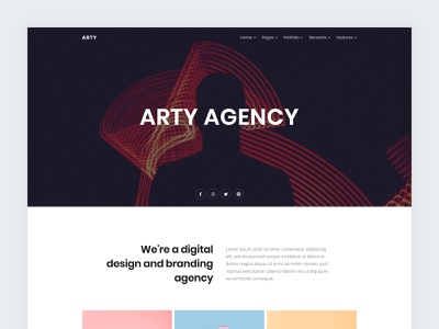Modern Agency portfolio business simple creative ui html5 web template web design clean simplistic contemporary modern agency