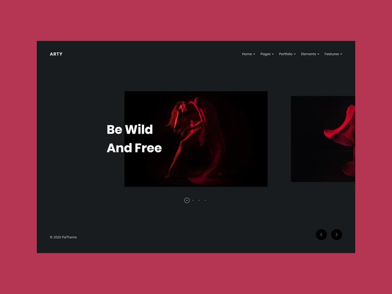 Portfolio Carousel creative ui web template web design clean simple contemporary modern agency studio slider carousel portfolio