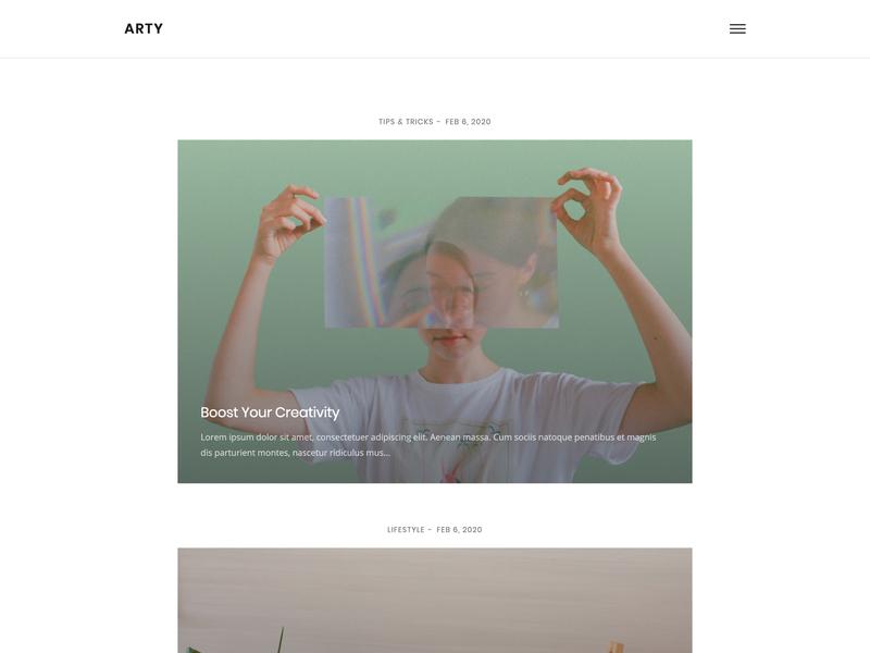Minimal Blog modern html5 web template web design simple clean minimal blog