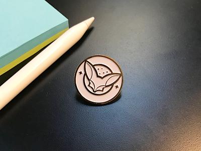 Fennec pins gold fox fennec lapel pin enamel pin pin