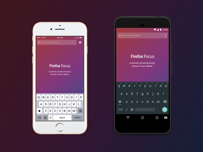 Firefox Focus for iOS & Android app icon focus private privacy photon browser ux ui mobile android ios firefox