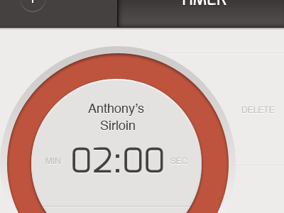 Timer UI timer ui android mobile radial countdown clock time indicate steak