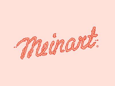 Meinart logo illustration #1 kids color vibrant intestines splash happy pink brains illustration logo