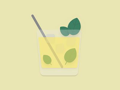 Mint Julet mint mintjulet cocktail illustration