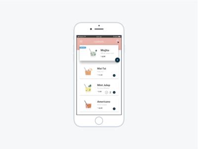 Cocktails App americano mintjulep maitai mojito startup ecommerce mobileapp cocktails