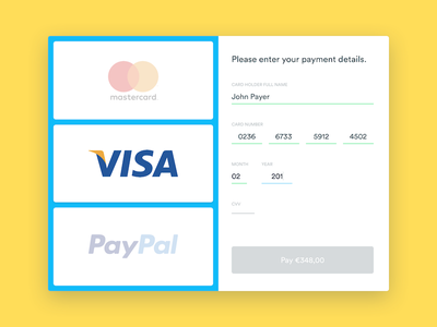 Credit Card - Checkout dailyui checkout creditcard