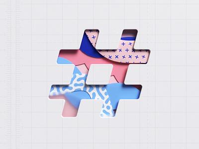 Papers typography type octanerender octane lettering cinema 4d cgi illustration c4d 3d render