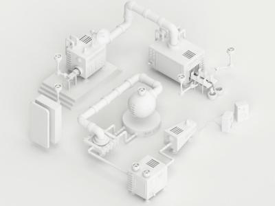 Factory clay render
