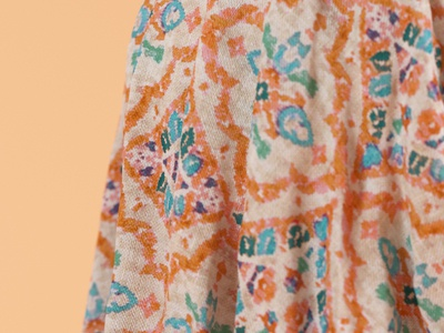 Fabric modelling cloth clothes maxon lighting pattern orange octane octanerender otoy cinema4d illustration 3d cgi render c4d