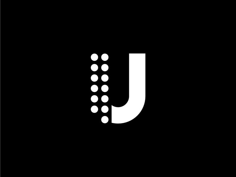 Geometric Dots Letter U bold illustration vector monogram design white and black logo u letter geometric dots