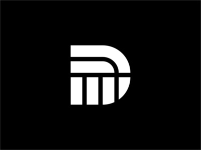 Geometric Linework Letter D vector illustration line icon design geometric strong bold logo white and black