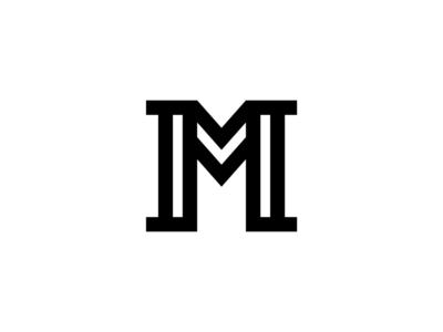 Elegant Geometric Letter M strong m letter icon bold geometric white black design logo elegant modern serif