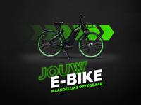 e-bike company flyer photoshop bike visualdesign chevron visual green neon colors edvertising biking subscription a5 design flyer ebiketogo fluorescent e-bike