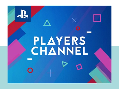 Players Channel youtube players channel icons playstation branding concept console