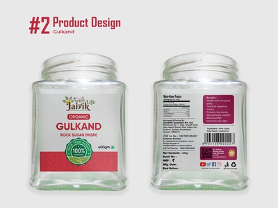 Gulkand - Product Design glass bottle organic product branding label design product packaging packaging design product design