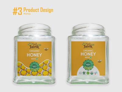 Honey - Product Design product food product glass bottle organic label packaging label design packaging packaging design adobe ilustrator honey product design