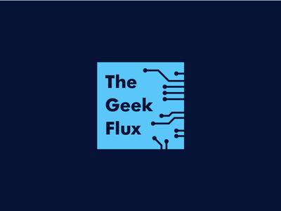 The Geek Flux the geek flux flux geeky geek tech news technical logo design branding technological technology tech company tech design tech tech logo brand branding illustration adobe ilustrator brand identity logo design logo