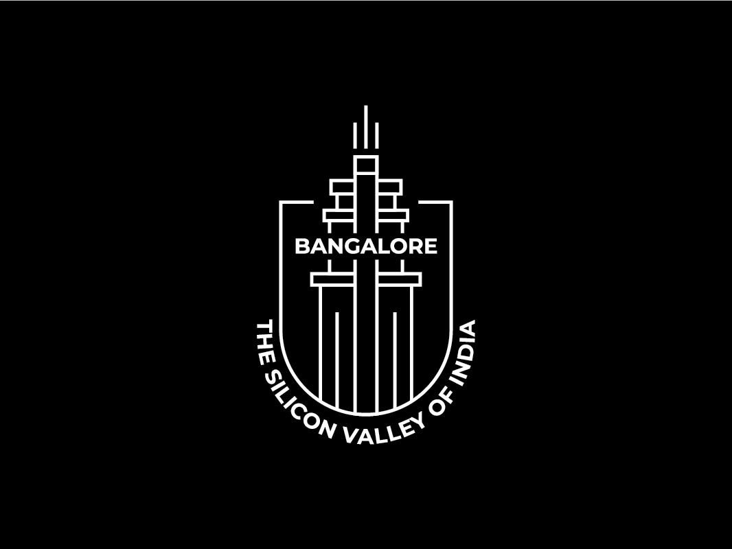 Bangalore City logotype city illustration city branding logo deisgn republic day minimal logo city logo india silicon valley bangalore logo banglore bangalore line art minimal adobe ilustrator logo a day branding brand identity logo design logo