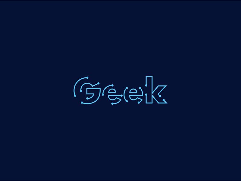 Geek vector illustration minimal logo logotype technology logo technology circuit board circuit geek logo geeky geeks geek tech design tech logo tech minimal logo a day branding logo adobe ilustrator