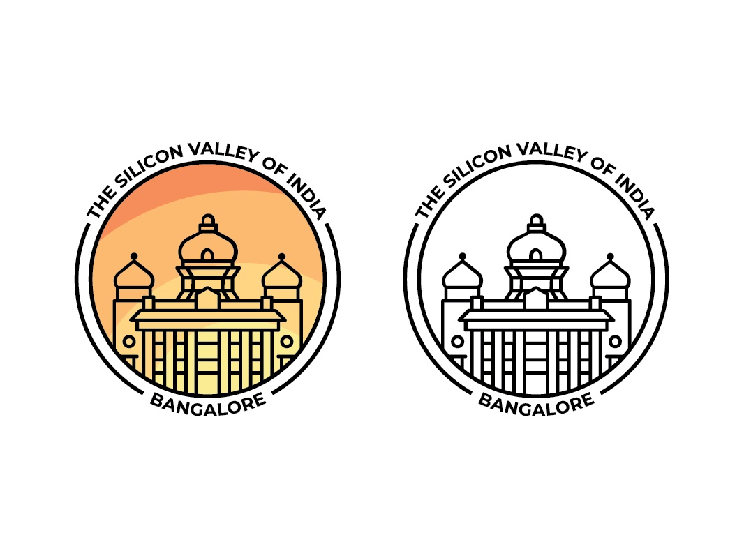 Bangalore City Logo indian city india city logo city branding bangalore city logo bangalore escorts bangalore minimal logo design adobe ilustrator illustration brand identity logo branding