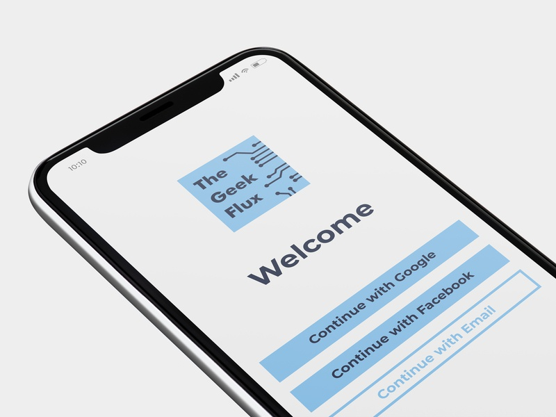 App Mockup technology tech logo welcome screen welcome page logo design app icon app ui
