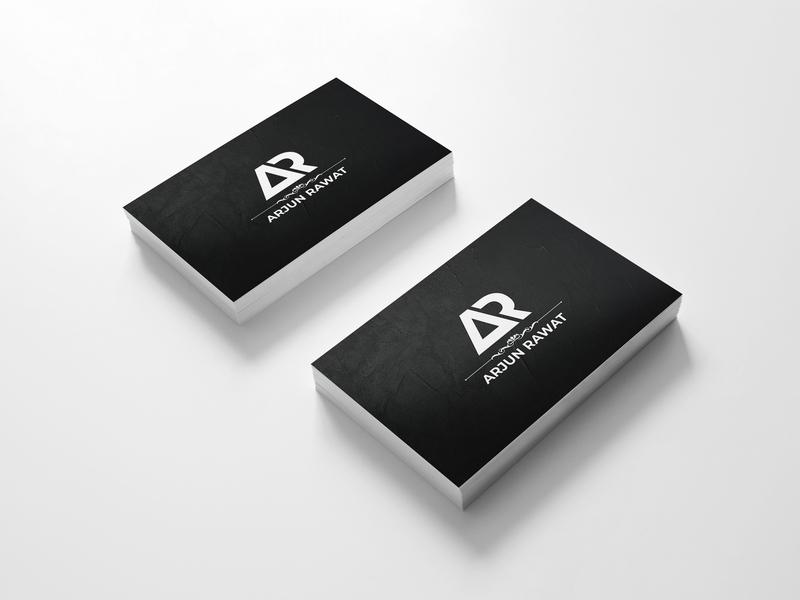 AR Logo business card logo design brand identity minimal logo logo design ar branding