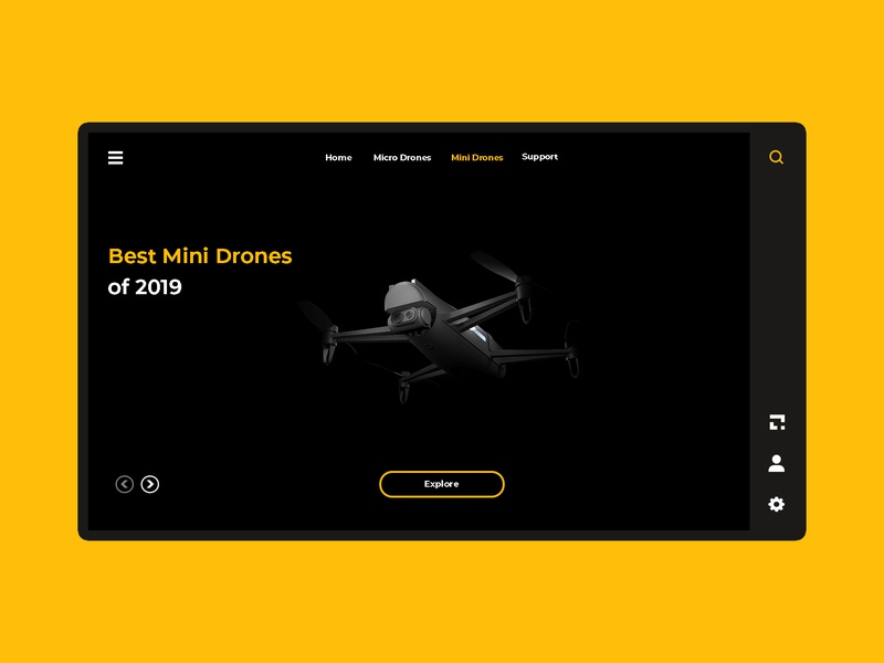 Drone's Site ! illustration web design website concept drone logo photoshop 3dsmax ui design ui drones