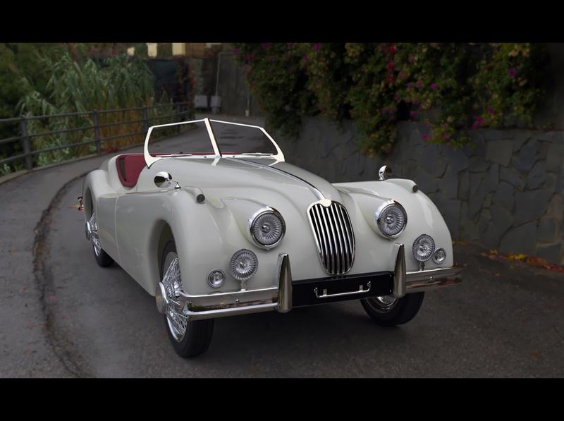 Jaguar Mk140 vintage car model 3d model 3ds max car 3d