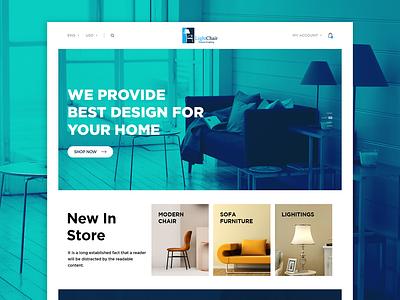 Furniture_Website sofa uidesign illustartion web design fruit chair light home furniture store furniture